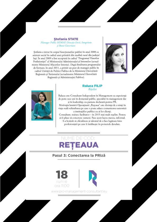 """Sesiunea de Networking """"Reteaua – Pasul 3: Conectarea la PRiza"""""""